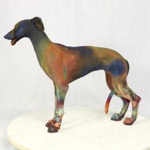 Standing greyhound